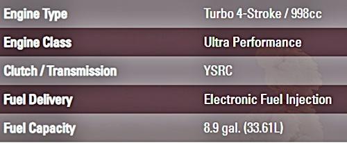 2021 Yamaha Sidewinder SRX LE Specs