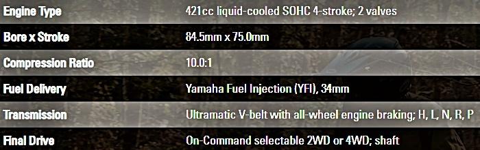 Yamaha Kodiak 450 Engine